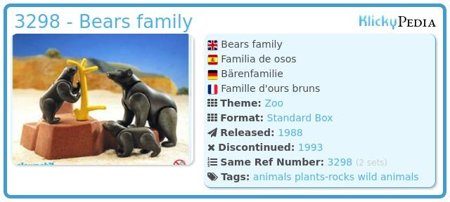 Playmobil 3298 - Bears family
