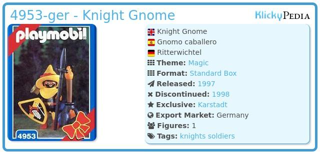 Playmobil 4953-ger - Knight Gnome