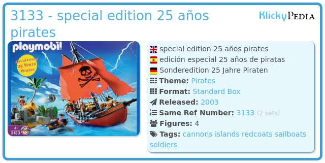 Playmobil 3133 - special edition 25 años pirates