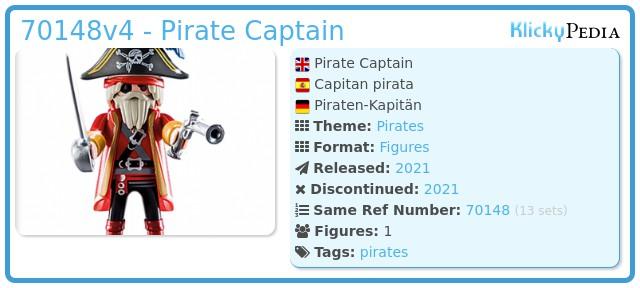 Playmobil 70148v4 - Pirate Captain