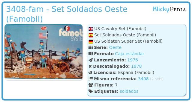 Playmobil 3408-fam - 7 Soldados 7