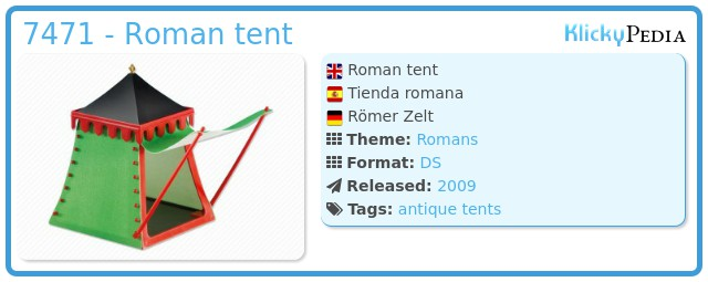 Playmobil 7471 - Roman tent
