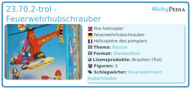 Playmobil 23.70.2-trol - Feuerwehrhubschrauber