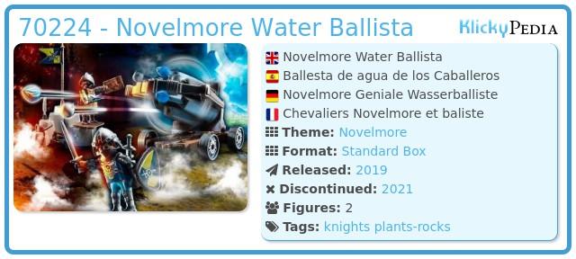 Playmobil 70224 - Novelmore Water Ballista