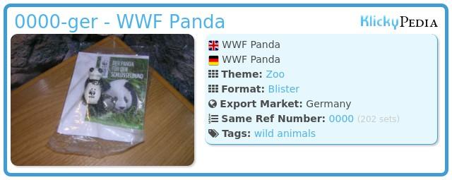 Playmobil 0000-ger - WWF Panda
