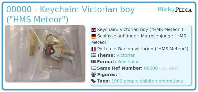 Playmobil XXXX - Keychain: Victorian boy (