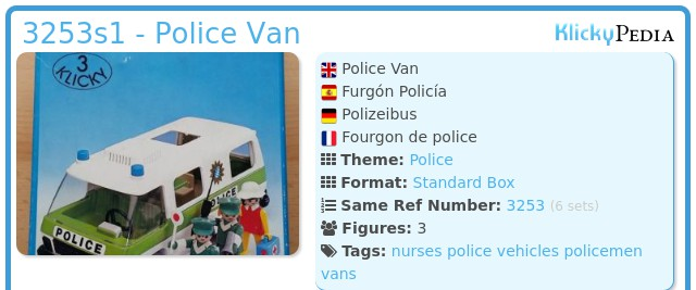 Playmobil 3253s1 - Police Van