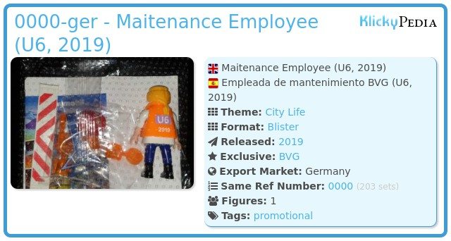Playmobil 0000-ger - Maitenance Employee (U6, 2019)