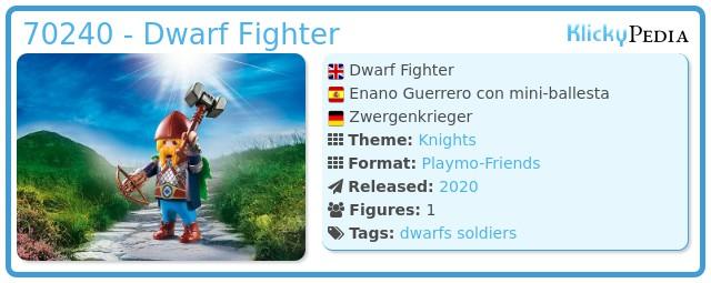 Playmobil 70240 - Dwarf Fighter