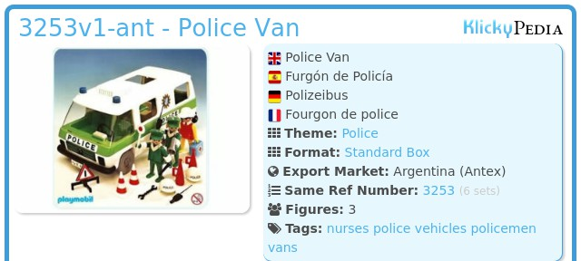 Playmobil 3253v1-ant - Police Van