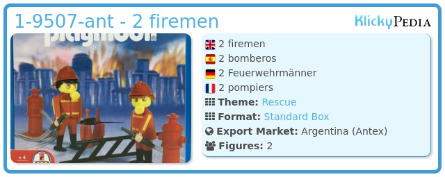 Playmobil 1-9507-ant - 2 firemen