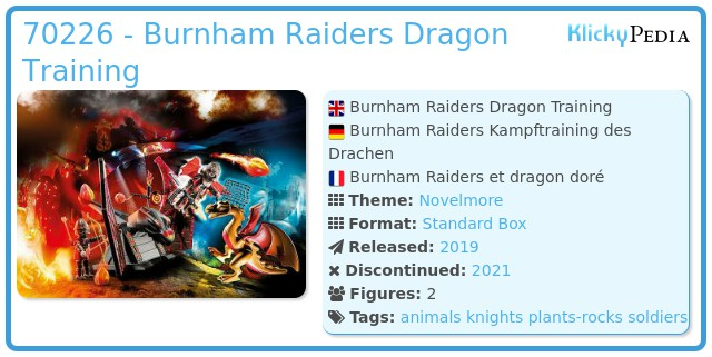 Playmobil 70226 - Burnham Raiders Kampftraining des Drachen