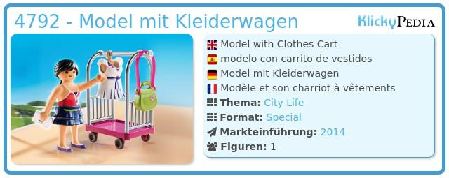 Playmobil 4792 - Model mit Kleiderwagen