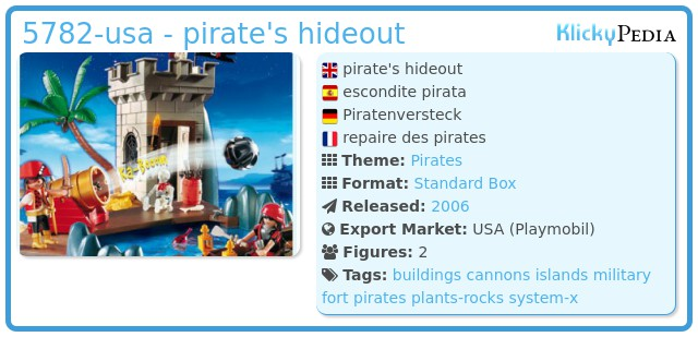 Playmobil 5782-usa - pirate's hideout