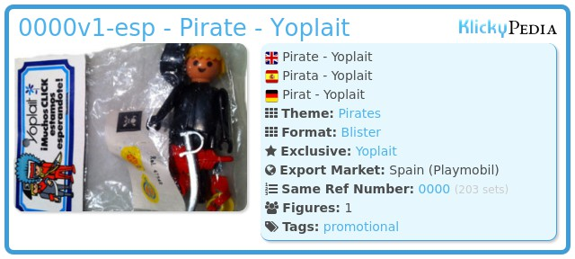 Playmobil 0000v1-esp - Pirate - Yoplait