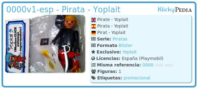 Playmobil 0000v1-esp - Pirata - Yoplait