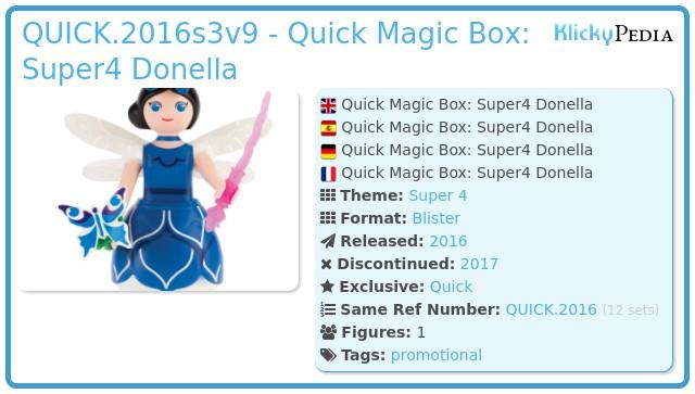 Playmobil QUICK.2016s3v9 - Quick Magic Box: Super4 Donella