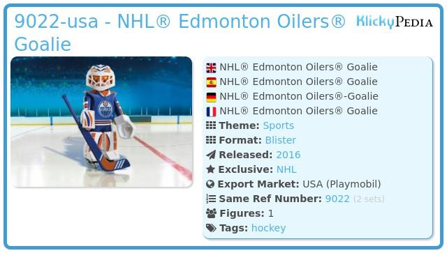 Playmobil 9022-usa - NHL® Edmonton Oilers® Goalie