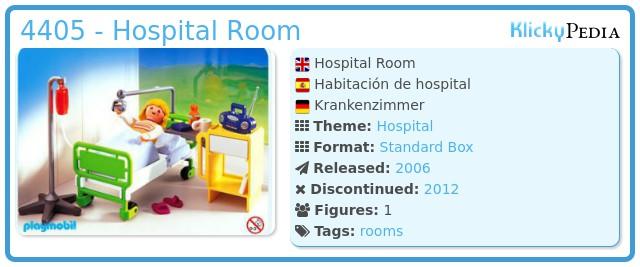 Playmobil 4405 - Hospital Room