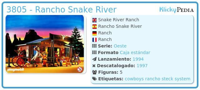 Playmobil 3805 - Rancho Snake River