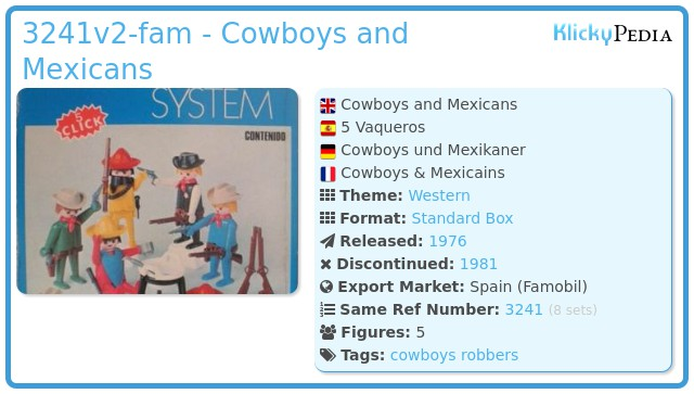 Playmobil 3241v2-fam - Cowboys and Mexicans