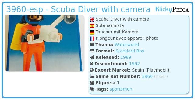 Playmobil 3960-esp - Scuba Diver with camera