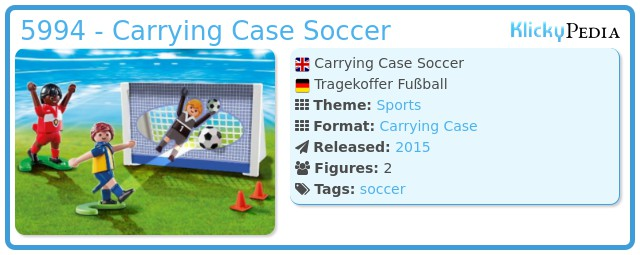 Playmobil 5994 - Carrying Case Soccer