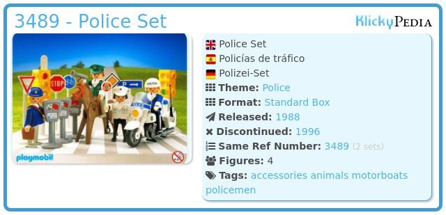 Playmobil 3489 - Police Set