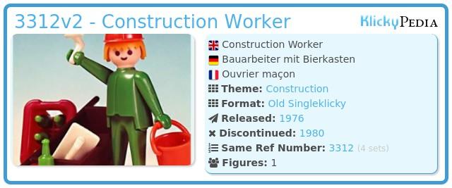 Playmobil 3312v2 - Construction Worker