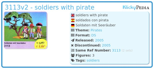 Playmobil 3113v2 - soldiers with pirate