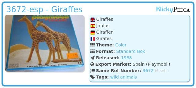 Playmobil 3672-esp - Giraffes