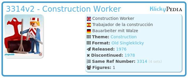 Playmobil 3314v2 - Construction Worker