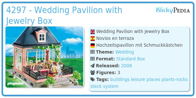Playmobil 4297 - Wedding Pavilion with Jewelry Box