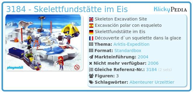Playmobil 3184 - Skelettfundstätte im Eis