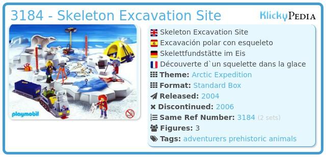 Playmobil 3184 - Skeleton Excavation Site