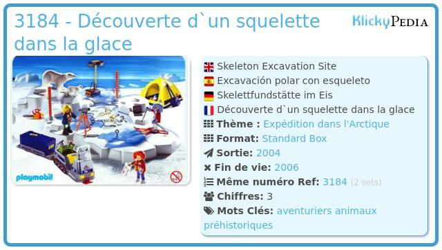 Playmobil 3184 - Explorateurs/banquise/squelette
