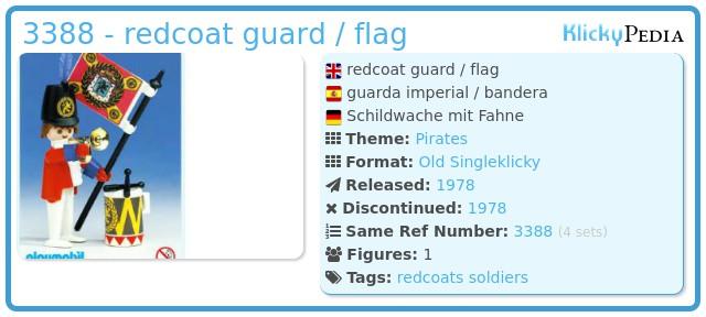 Playmobil 3388 - redcoat guard / flag
