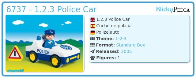 Playmobil 6737 - 1.2.3 Police Car