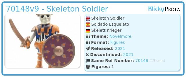 Playmobil 70148v9 - Skeleton Soldier