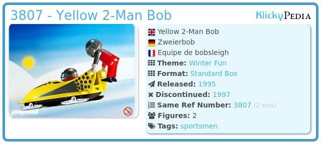 Playmobil 3807 - Yellow 2-Man Bob