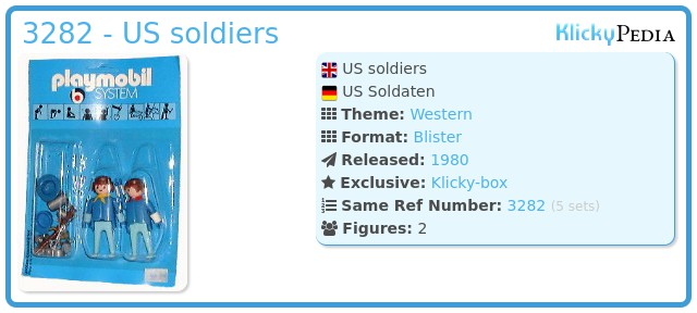 Playmobil 3282 - US soldiers