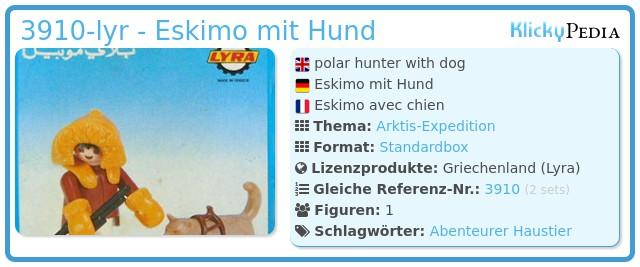 Playmobil 3910-lyr - Eskimo mit Hund