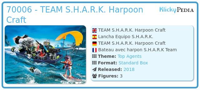 Playmobil 70006 - TEAM S.H.A.R.K. Harpoon Craft
