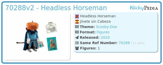 Playmobil 70288v2 - Headless Horseman