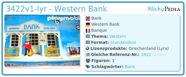 Playmobil 3422v1-lyr - Western Bank