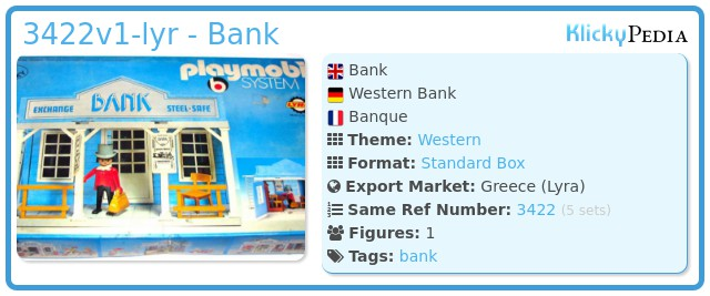 Playmobil 3422v1-lyr - Bank
