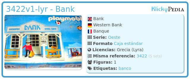Playmobil 3422v1-lyr - Bank