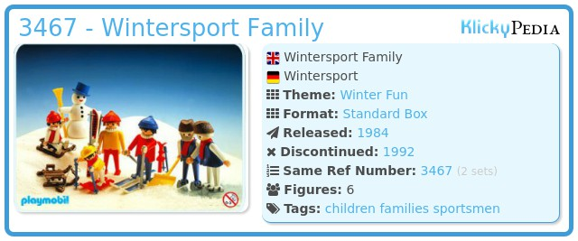 Playmobil 3467 - Wintersport Family