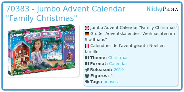 Playmobil 70383 - Adent Calendar