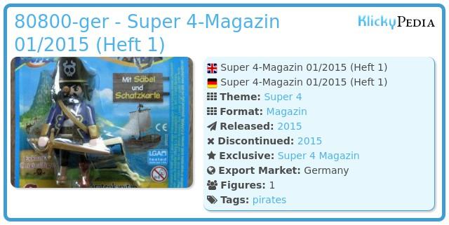 Playmobil 80800-ger - Super 4-Magazin 01/2015 (Heft 1)